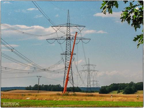 380KV-Stromtrassenbau in der Lausitz
