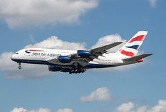 EGLL - Airbus A380-841 - British Airways - G-XLEG