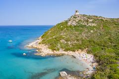 Waters of the Tyrrhenian Sea near Villasimius in Sardinia, Italy