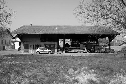 Vésenaz - Hangar Métral - Façade levant