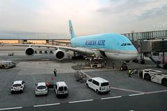 Korean Air Airbus A380 at Charles de Gaulle Airport