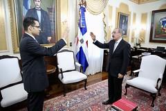 Presidente Danilo Medina juramenta a Juan Ariel Jiménez, como nuevo ministro de Economía, Planificación y Desarrollo