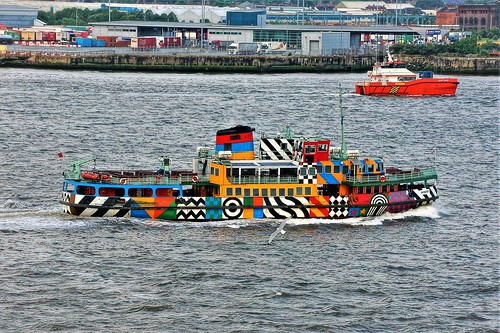 Ferry Boat on the Mersey River in Liverpool