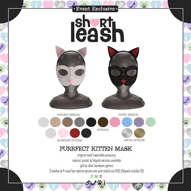 .:Short Leash:. Purrfect Kitten Mask