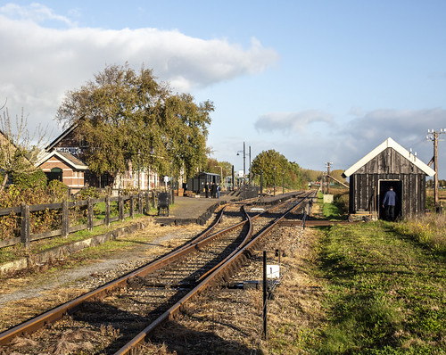 Stoomtram Hoorn Medemblik SHM, Station Wognum-Nibbixwoud 22 oktober 2018