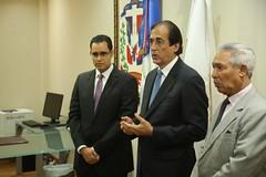 Gustavo Montalvo deja en posesión al nuevo ministro de Economía, Juan Ariel Jiménez