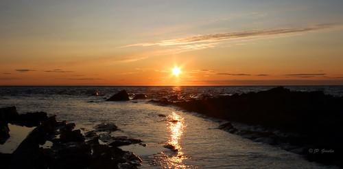 SUNSET | SUNBURST OVER SAINT LAWRENCE RIVER  |  GROS-MORNE  |  GASPESIE  |  QUEBEC  |  CANADA