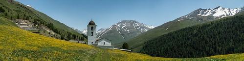 Kirche Cresta im Avers, GR, Switzerland