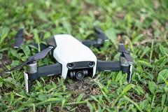 DJI Mavic Air drone on the soil ground
