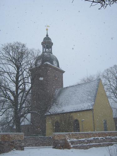 Esperstedt, Kyffh. ; Sankt Johannis im Schneesturm