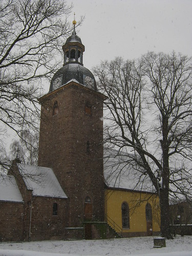 Esperstedt, Kyffh. Sankt Johannis im Schneesturm