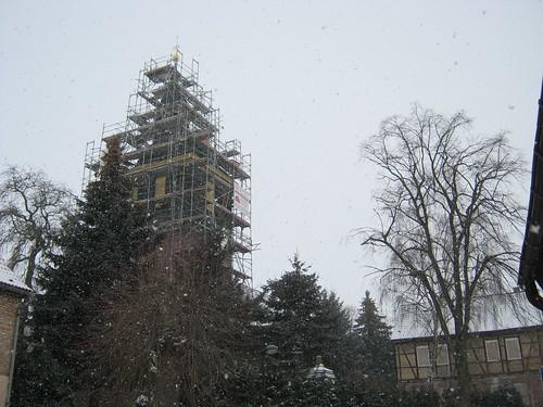 Sankt Galli zu Udersleben, Kyffh. im Schneesturm