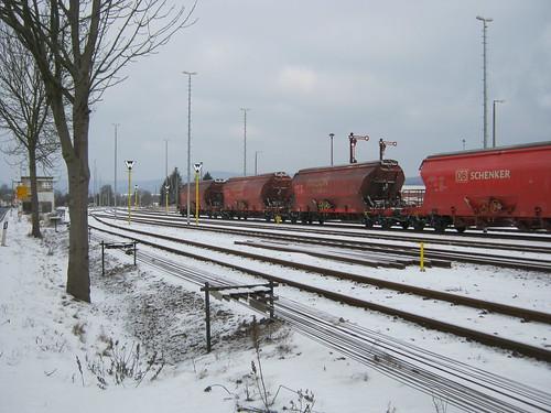 Güterwagen am Gipswerk zu Rottleberode