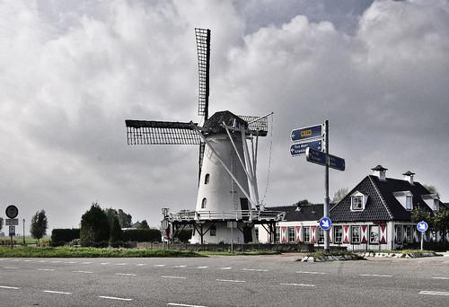 Turmwindmühle bei Ten Post
