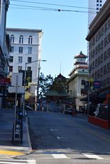 Morning in Grant Avenue - Looking up to the Hotel Triton and the China Gate