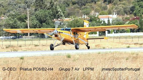 G-CECI Pilatus PC6/B2-H4  Grupo 7 Air LPPM  jmescSpotterPortugal