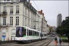 Alsthom TFS (Tramway Français Standard) - Semitan (Société d'Économie MIxte des Transports en commun de l'Agglomération Nantaise) / TAN (Transports en commun de l'Agglomération Nantaise) n°338