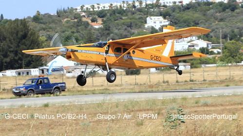 G-CECI Pilatus PC/B2-H4  Grupo 7 Air LPPM jmescSpotterPortugal