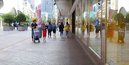 Walking around on Sunday-morning