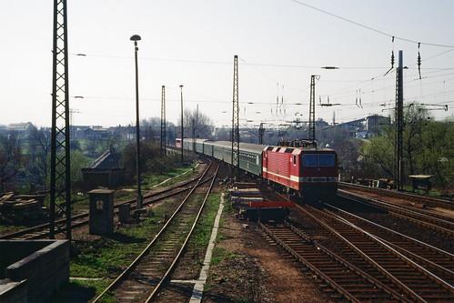 Einfahrt in den Bahnhof Werdau