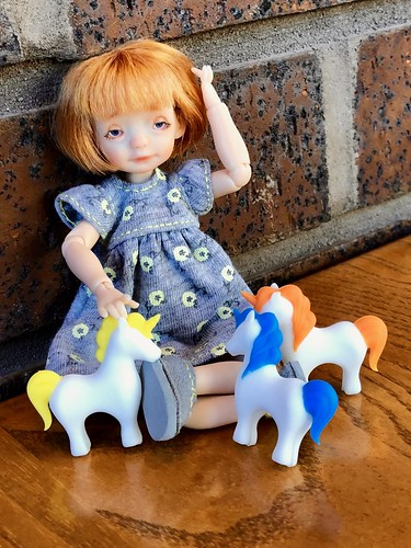Playing with Unicorns and wishing everyone a rainbow day!