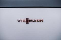 Original signature logo of Viessmann heat water-air pump
