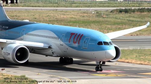 TUI, Boeing 787-8 > G-TUID (NAP/LIRN - 02.08.2019)