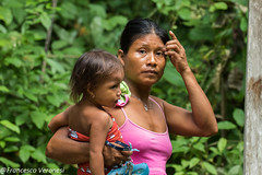 Mother and baby of Embera community - Darien - Panama CD5A9503