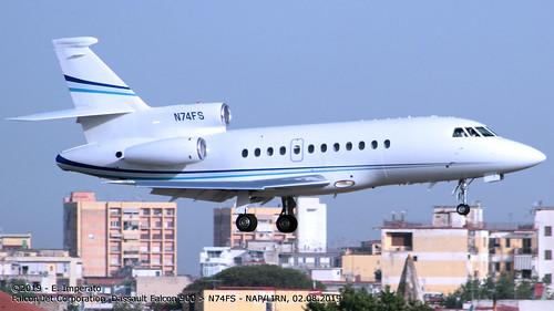 Falcon Jet Corporation, Dassault Falcon 900 > N74FS (NAP/LIRN - 02.08.2019)