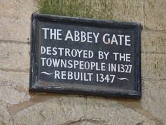 Plaques in Bury St Edmunds