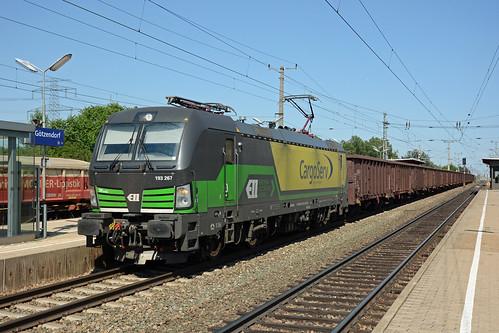 193267 + freight train, Götzendorf, 4 July 2019
