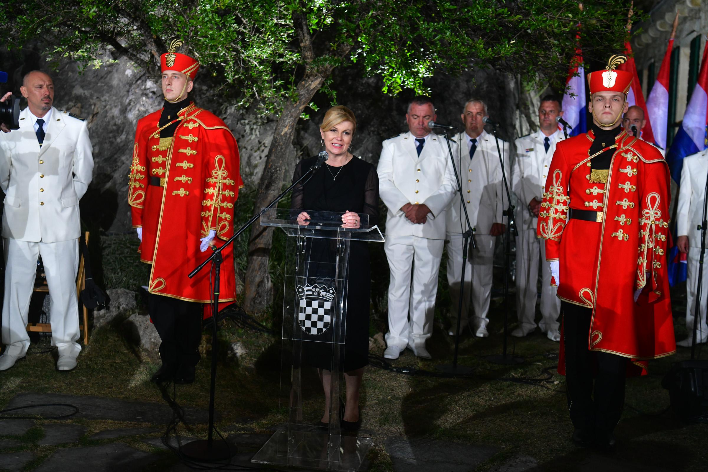 Na kninskoj tvrđavi održan prijem ratnih zapovjednika