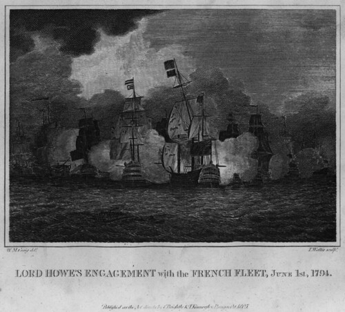 Lord Howe's Engagement with the French Fleet June 1st 1794