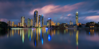 Surfers Paradise from Ouyan street