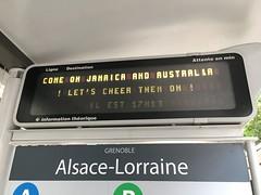 Grenoble SÉMITAG tram Alsace-Lorraine stop