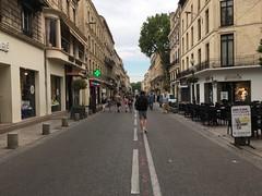 The edge of the square at Rue de la République, Avignon