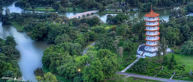 Bird Eye View of SG Chinese Garden