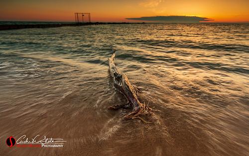 Sunrise water dance