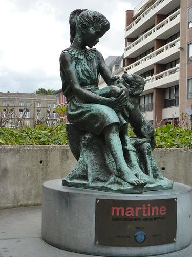 Martine et son chien