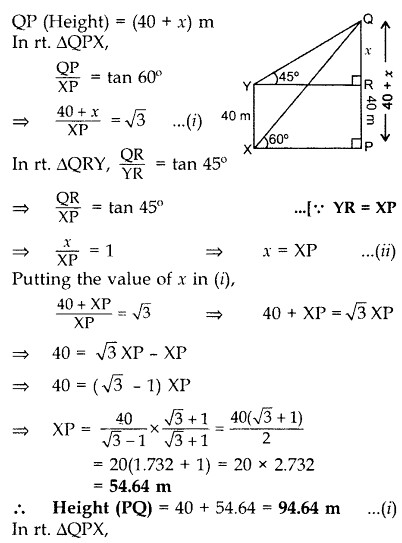 Important Questions for Class 10 Maths Chapter 9 Some