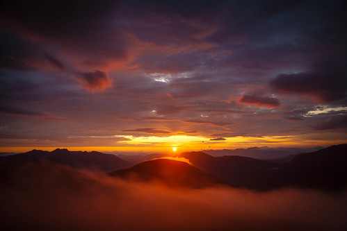Sunrise from A' Mhaighdean