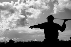 Spear thrower Silhouette