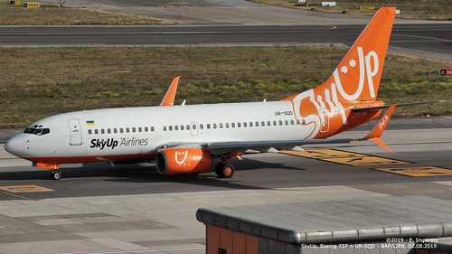 SkyUp, Boeing 737 > UR-SQD (NAP/LIRN - 02.08.2019)