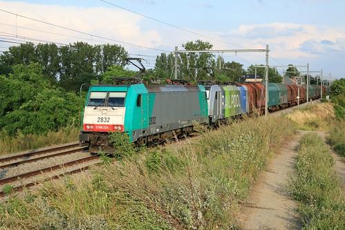 Lineas 2832 -186 224 Railpool 186 295 Gingelom 07-08-2019