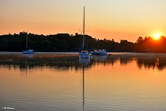 1000 Islands - sunrise at anchorage