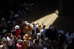 In a crowd in London