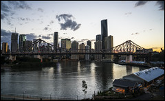 Story Bridge and Riverside Brisbane just after sunset
