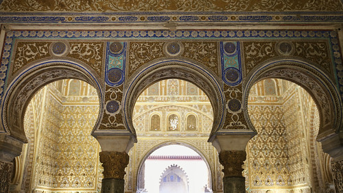 Throne room in the Mudejar palace of Pedro the first