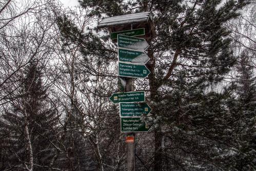 Zittauer Gebirge in Winter