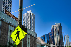 Image by NettyA (7272097@N08) and image name The Magnificent Mile, Chicago photo  about Buildings on The Magnificent Mile - a famous street in Chicago. It is known as The Magnificent Mile because of its upmarket shops.